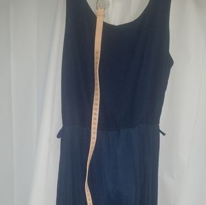 2x Navy western maxi dress w/ NWOT leather belt
